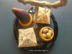 Fagottini di ricotta, fichi e olive
