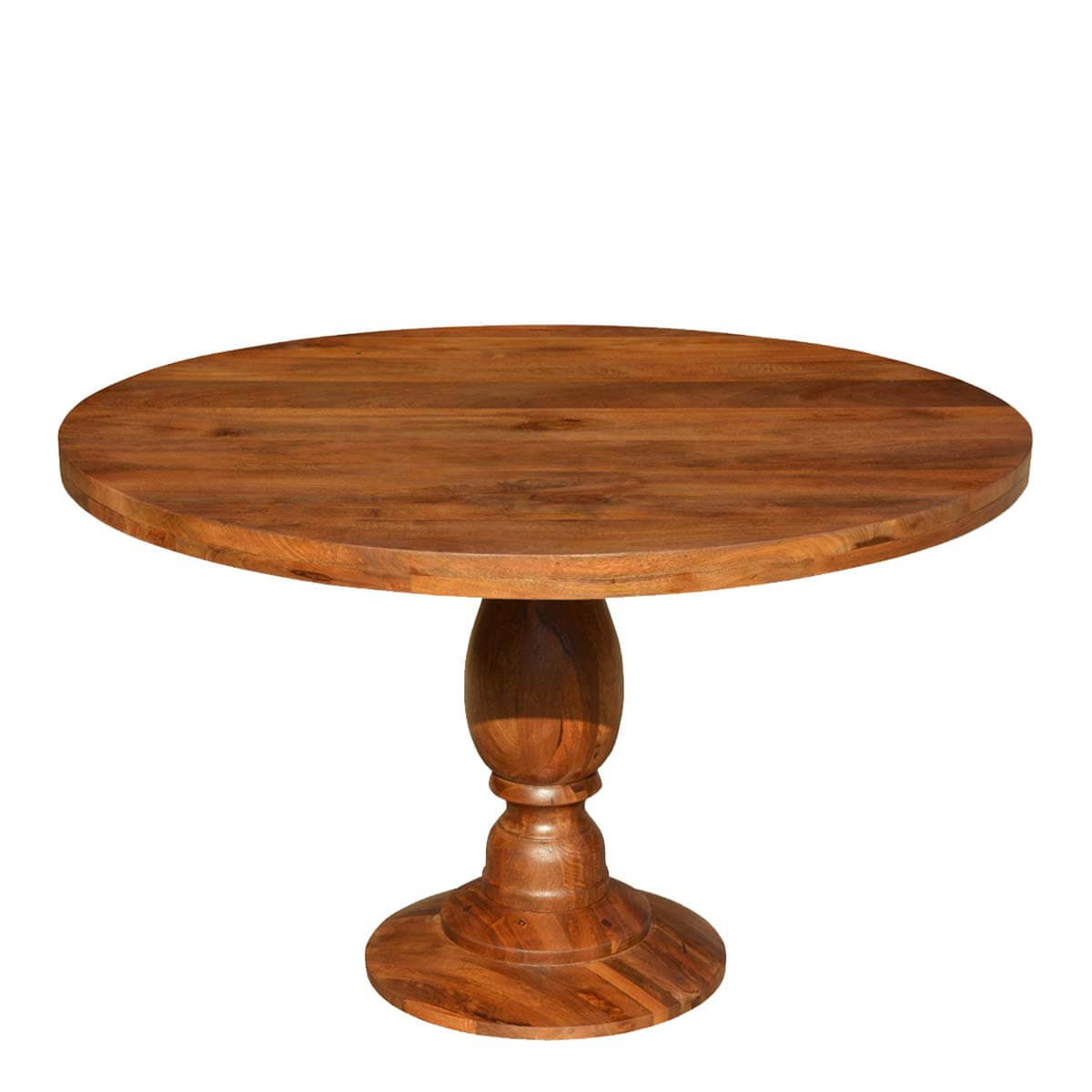 """Rustic Colonial American Solid Wood 48"""" Round Pedestal ..."""