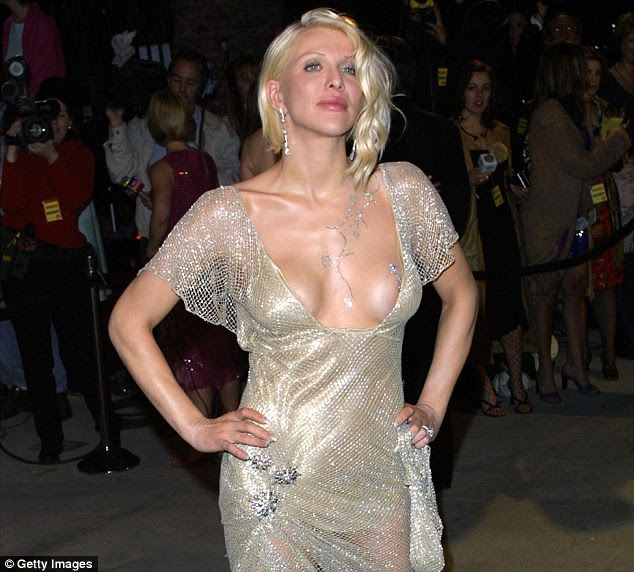 Two years after her facelift: At the 2001 Oscars the blonde did look different