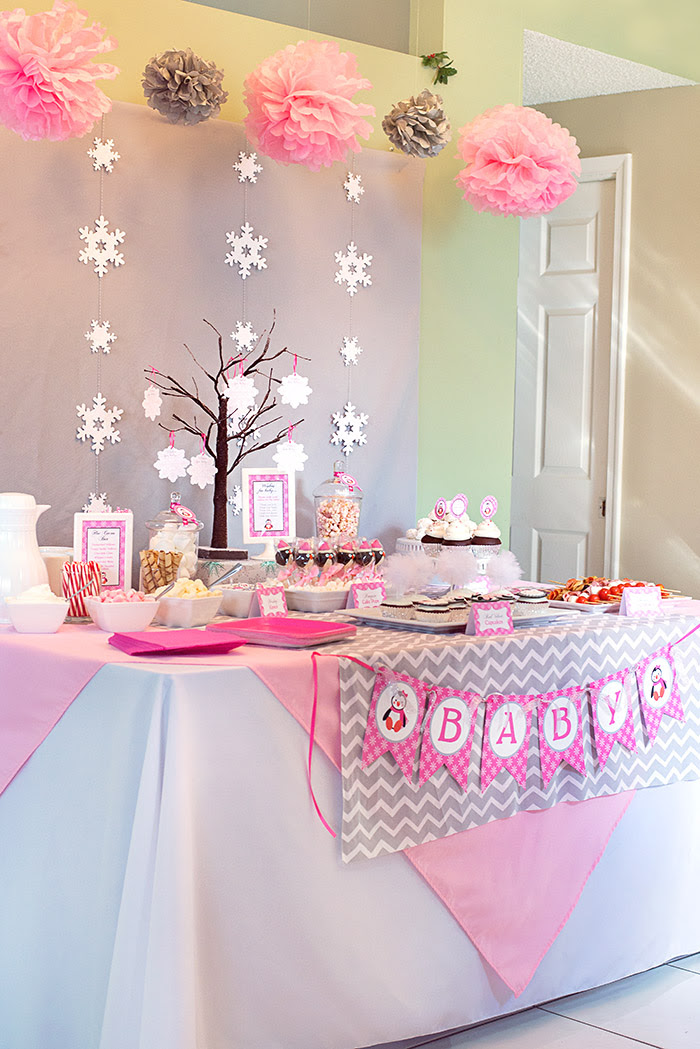 Winter Wonderland Little Penguin Baby Shower Celebration Lane