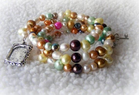 Bracelet Real Pearls