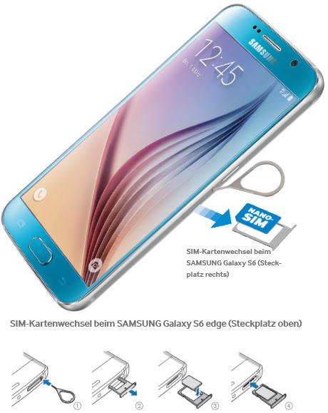 Samsung Galaxy S6 Sim Karte Einlegen.Welche Sim Karte Samsung Galaxy S6 Karte