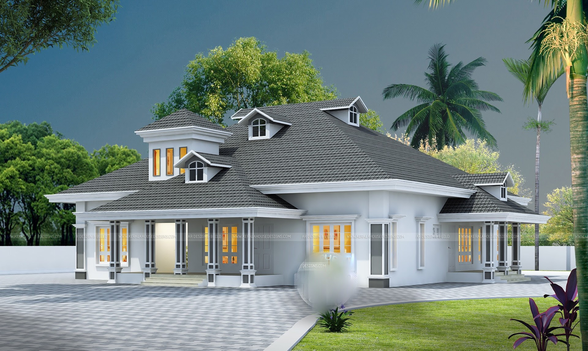 2100 Square Feet 4 Bedroom Single Floor Home Design And Elevation