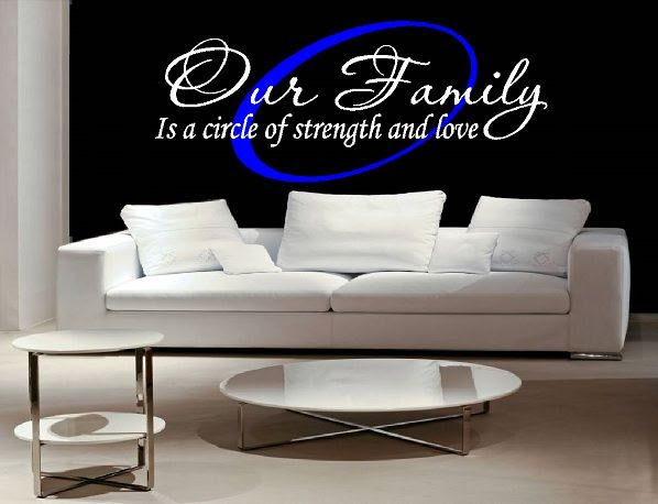 Our Family Is A Circle Of Strength And Love 2 Kleurig Qualitysticker