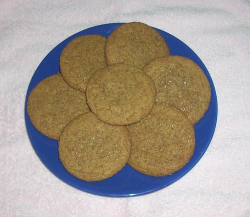 Ginger Molasses Crinkle Cookies B