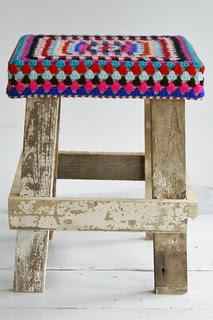 wood & wool stool petra