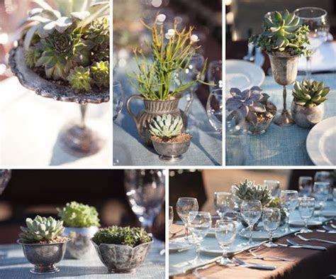 Succulent Centerpieces   Cheap 'n' Quirky Wedding