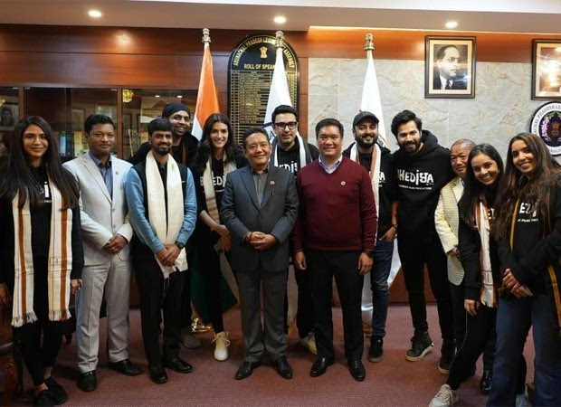 Team Bhediya meets the Chief Minister of Arunachal Pradesh ahead of their film schedule in the state