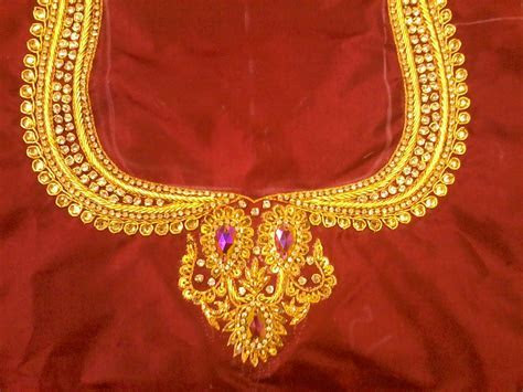 South Indian Bridal Blouse Designs: Maggam work blouse designs