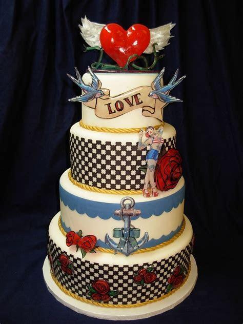 Rockabilly Cake   50,s party   Cake, Tattoo cake, Wedding