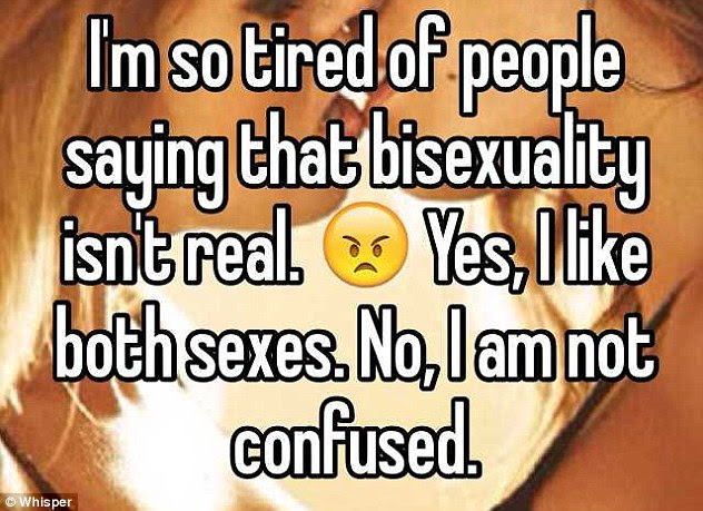 Many women were keen to drive home the point that it was others who were unsure about bisexuality, not them