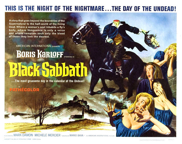 Reynold Brown - Black Sabbath (American International, 1964) half sheet