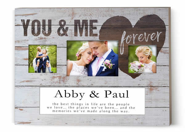 Jada Venia Personalized Three Photo Frame 20 X 15 You And Me Forever