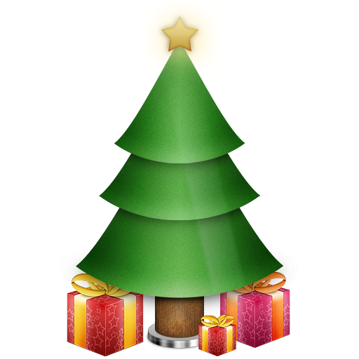 Christmas Tree With Gifts Icon Png Clipart Image Iconbugcom