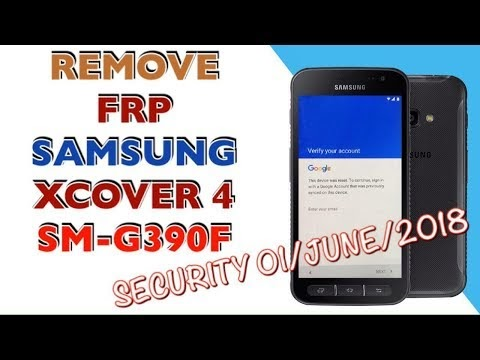 FRP SAMSUNG XCOVER 4 / SM-G390F / BYPASS GOOGLE ACCOUNT / ANDROID