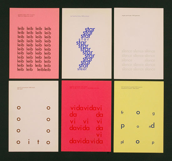 concrete poetry examples. Concrete poetry, also known as