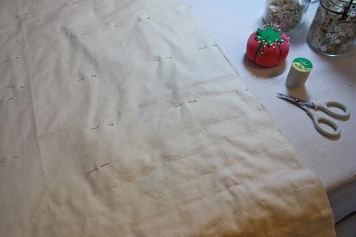 Cream/White Quilt interlining