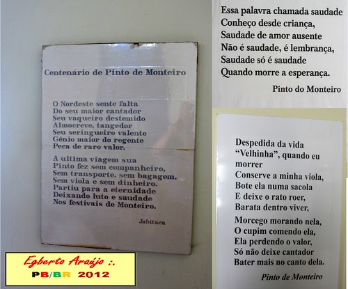 Monteiro - PB. III. Pousada dos Poemas (6) by Egberto Araújo