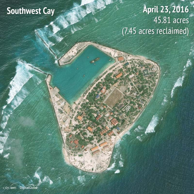 Southwest Cay 2016 | 7.45 acres reclaimed