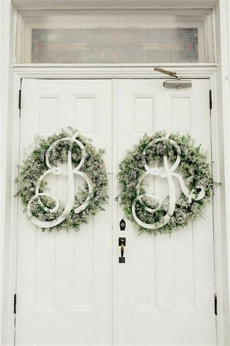 Best 25  Wedding door wreaths ideas on Pinterest   Letter
