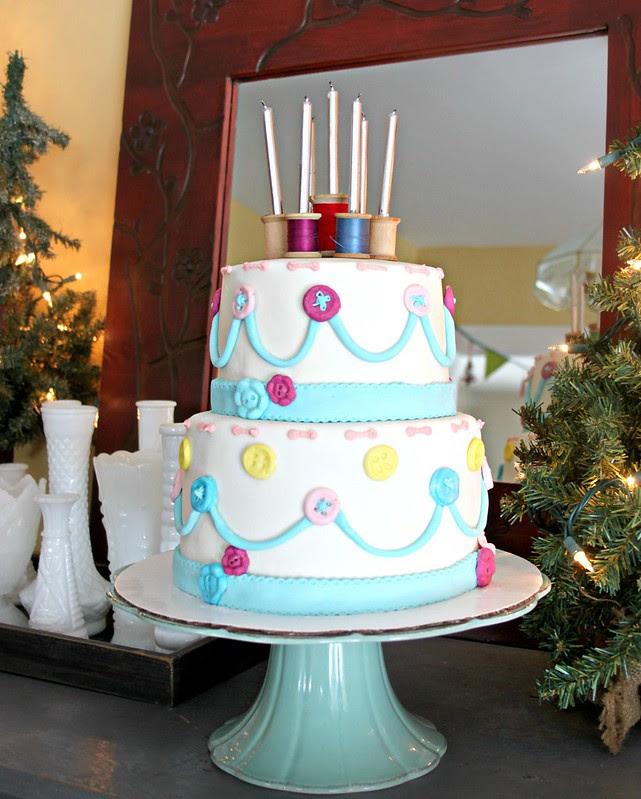 Haila's Sewing Themed Birthday Cake!