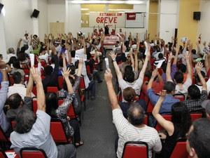 Após assembleia realizada em Belém na última quinta-feira (25), bancários do Pará irão iniciar greve no próximo dia 30. (Foto: Divulgação/Assessoria do Sindicato dos Bancários do Pará)