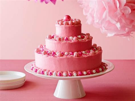 Birthday Cake with Hot Pink Butter Icing Recipe   Ina