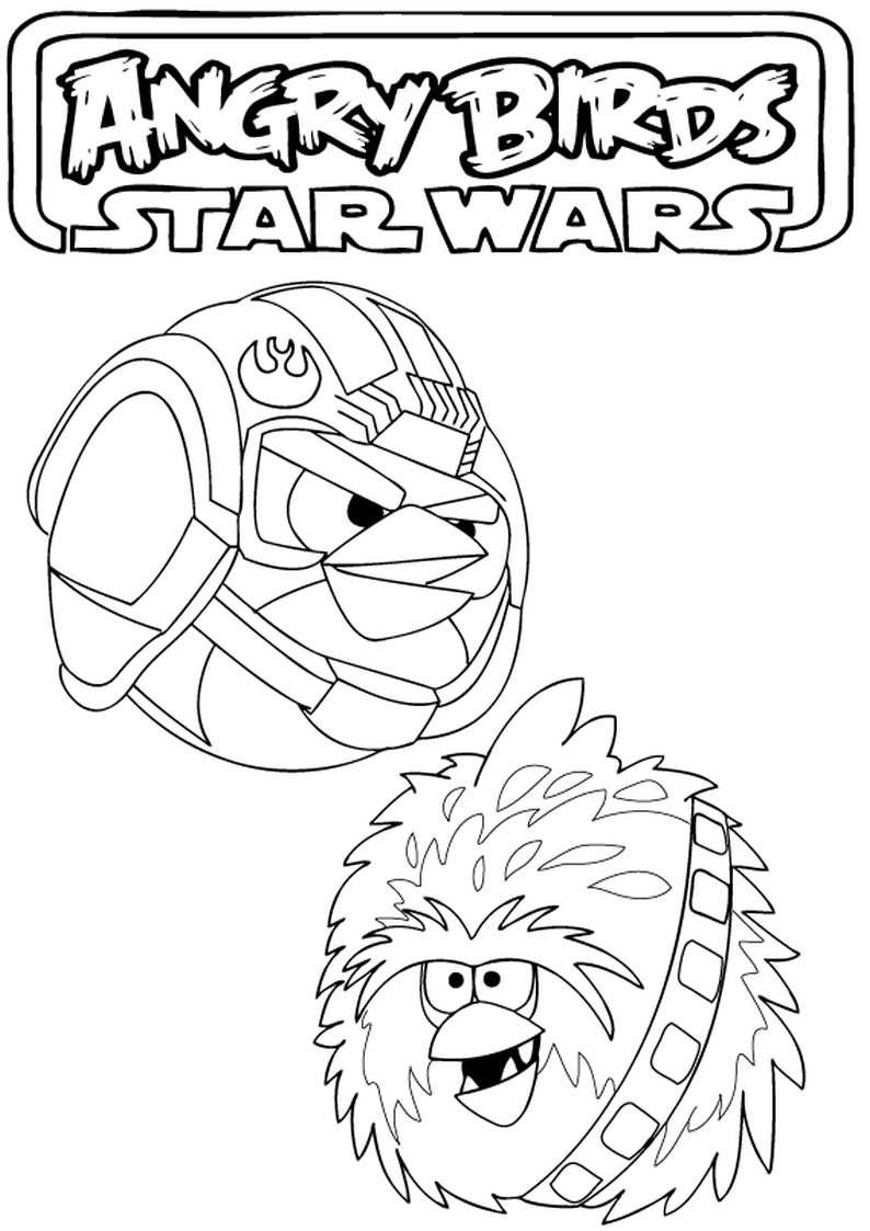 Kolorowanka Angry Birds Star Wars Malowanka Nr 18
