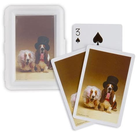 Bride and Groom Hounds Playing Cards   Weddingstar