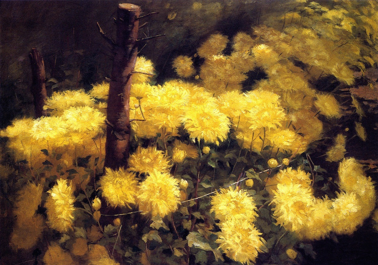 artshers:  Fannie Eliza Duvall - Chrysanthemums c. 1891 (Private Collection)