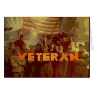 American Veteran - Veterans Day Military Card