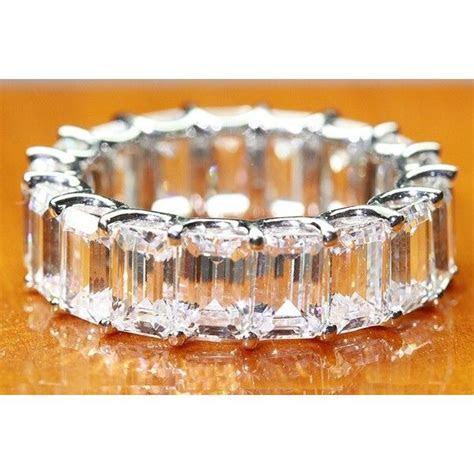 "12.00 CT Platinum Diamond Emerald Cut ""U"" Prong Eternity"
