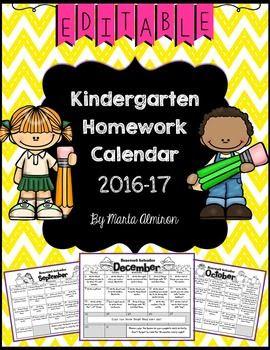 1000+ ideas about Homework Calendar on Pinterest | Kindergarten ...