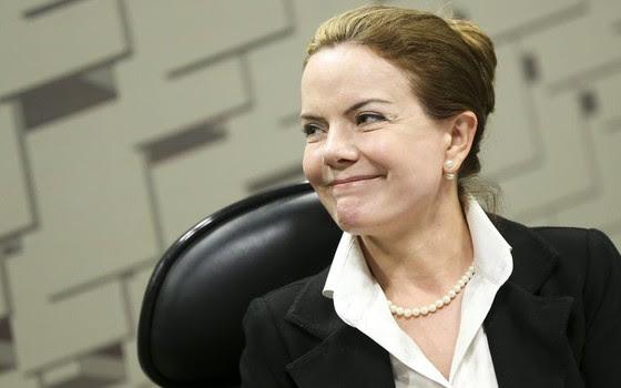 A senadora Gleisi Hoffmann (Foto: Marcelo Camargo/Agência Brasil)