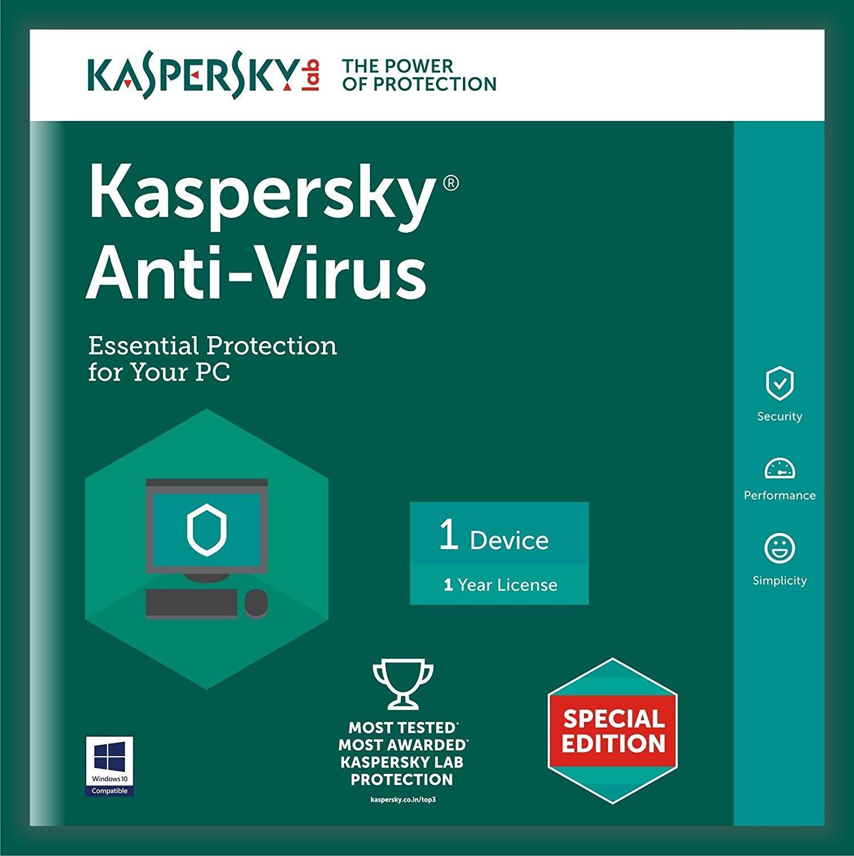 Deals on Kaspersky Anti-Virus Latest Version - 1 PC, 1 Year