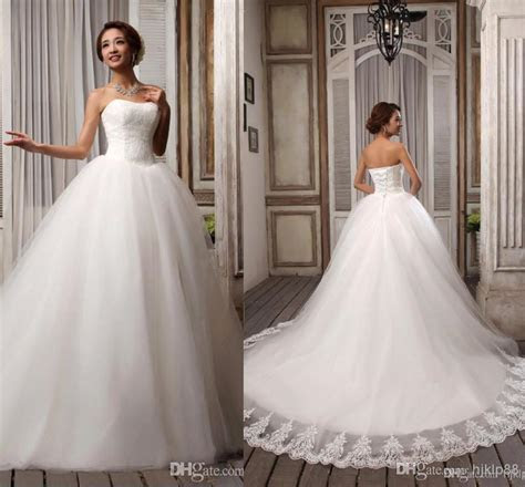 Hot Sell Elegant Popular Ribbons Strapless White