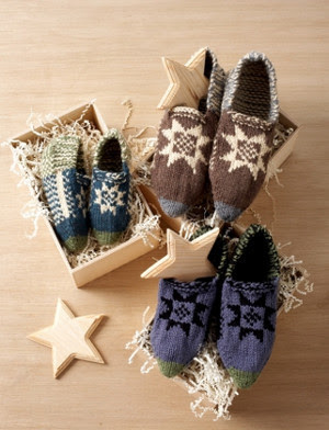 Traditional Fair Isle Slippers