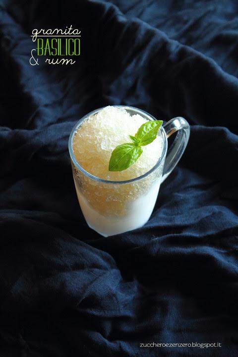 Granita al basilico e rum