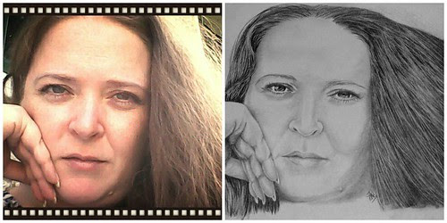 Left: my tablet snap, Right: sketch by Jean Wilcox