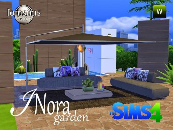 INORA garden set at Jomsims Creations » Sims 4 Updates