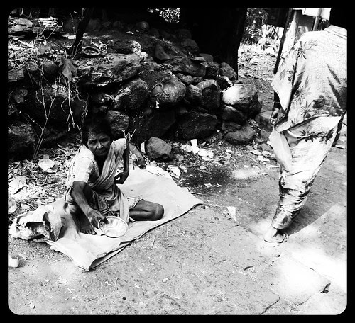 Beggars Feel The Pinch When The Rupee Falls by firoze shakir photographerno1