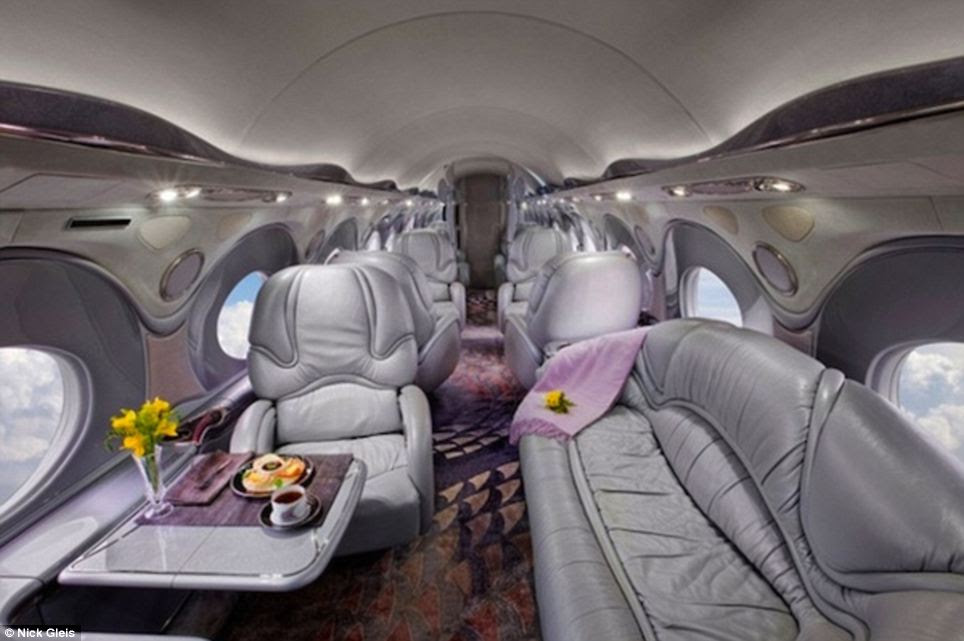 Traveling in style: These private jets provide huge levels of comfort