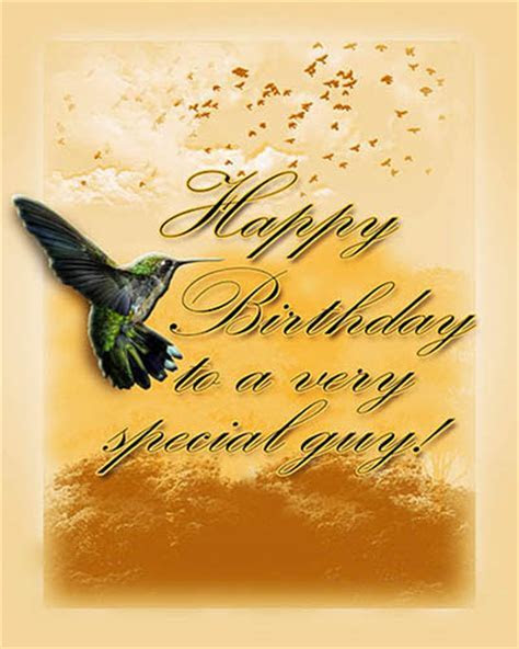 Hummingbird B?day Wish. Free Birthday for Him eCards   123