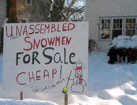 Snowman For Sale