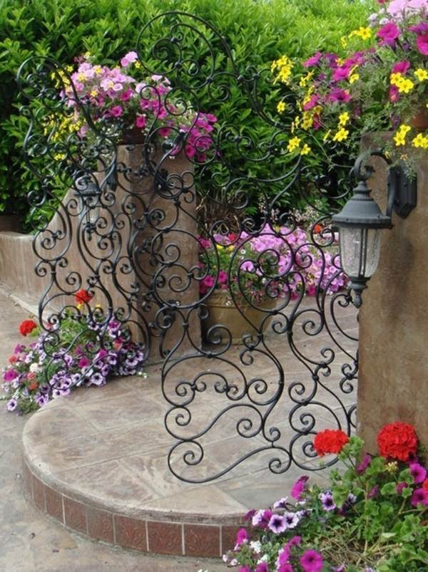 unique metal garden gates wrought iron garden gate beautiful design ornaments 15 Decorative Metal Gate Design for Amazing First Impression
