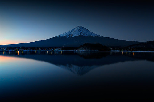 Mt.Fuji before sunrise
