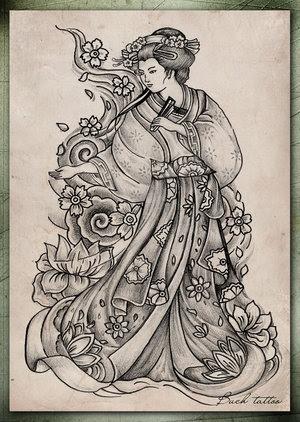 Tatatatta Art Japanese Tattoos With Image Japanese Geisha Tattoo