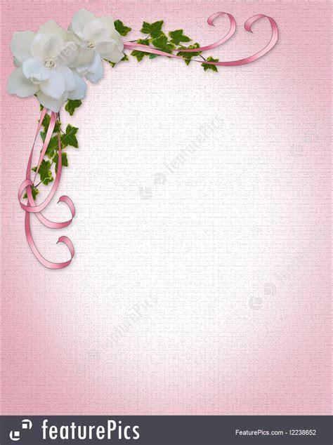 Gardenias Wedding Invitation Border Illustration