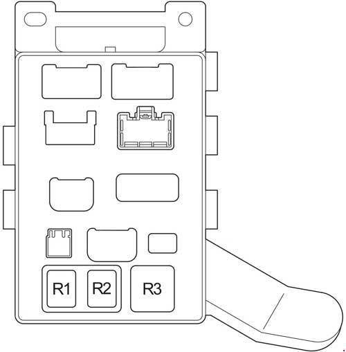 01 07 Toyota Highlander Fuse Diagram