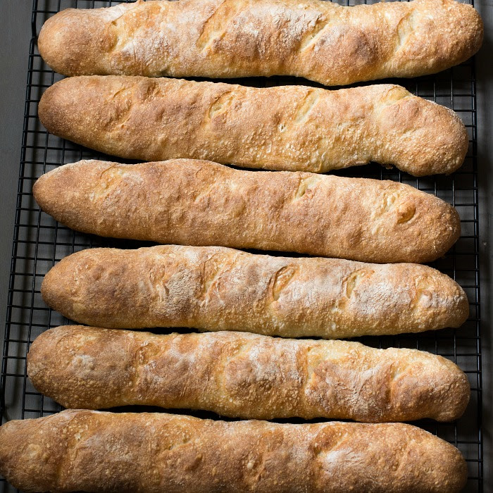 Crusty French Baguettes 4 Hour Recipe - No Starter Necessary